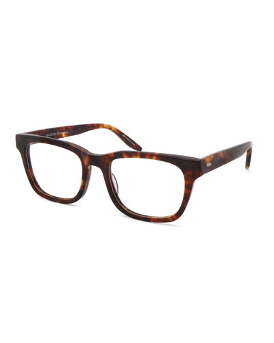 Men's Weller Rectangle Tortoiseshell Optical Frames