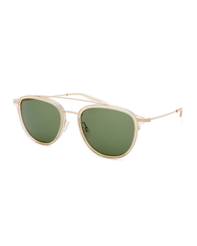 Men's Courtier Titanium Aviator Sunglasses