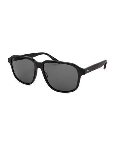 Men's Rectangle Acetate Polarized Sunglasses