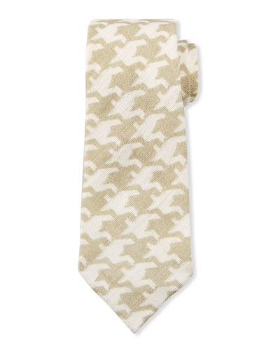 Men's Exploded Houndstooth Linen Tie