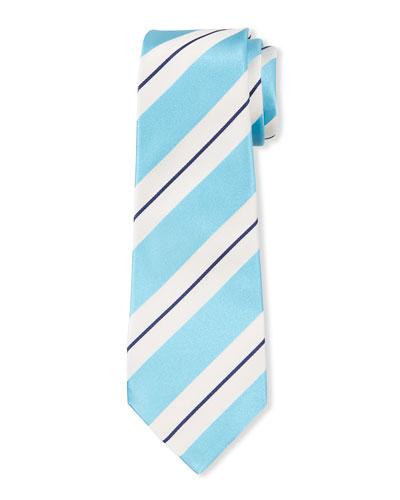 Men's Large Satin Stripe Tie
