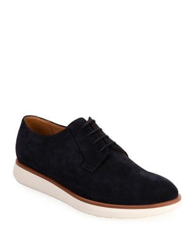 Men's Lightweight Suede Derby Shoes