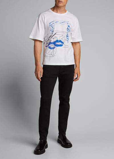 Men's Techno-Print Loose T-Shirt