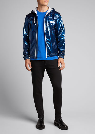 Men's Iridescent Zip-Front Wind-Resistant Jacket