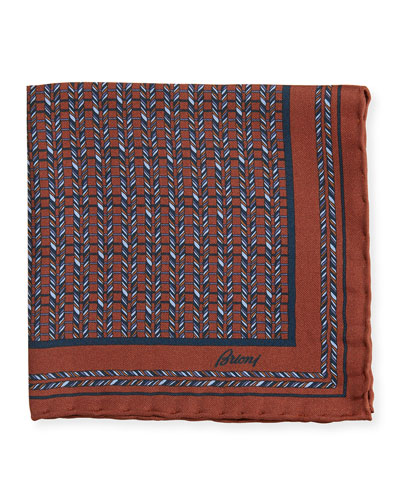 Men's Multi-Diagonal Rope Silk Pocket Square