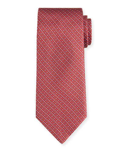 Multi Hexagon Silk Tie