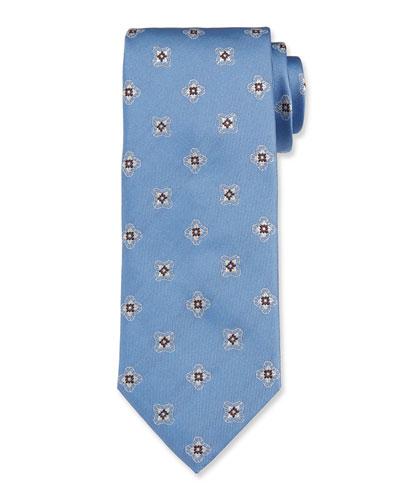 Men's Silk Medallion Tie