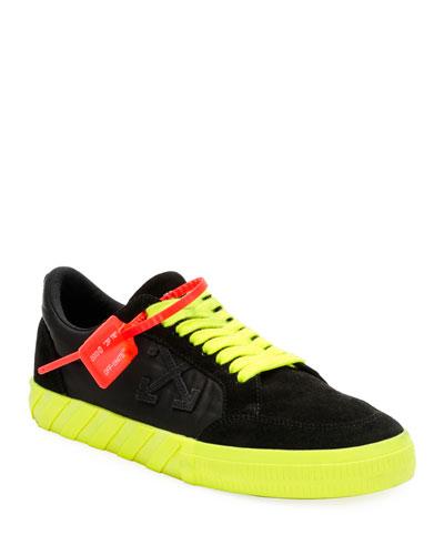 Men's Arrow Low-Top Vulcanized Fluo Sneakers