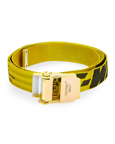 Men's Industrial Logo Web Belt