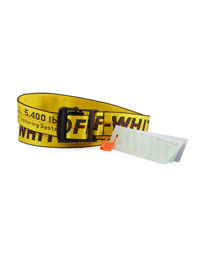 Men's Industrial Web Logo Belt - Short