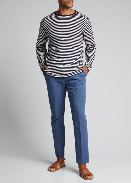 Men's Mariniere Cotton-Linen Crewneck T-Shirt