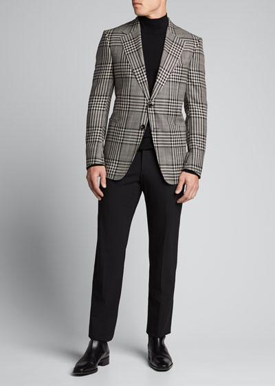 Men's Shelton Check Two-Button Jacket