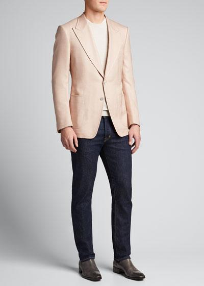 Men's Shelton Silk Canvas Blazer