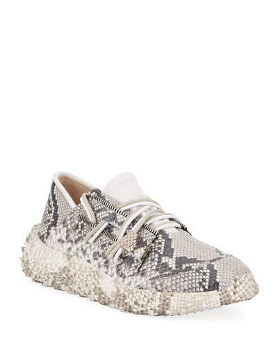Men's Snake Urchin Textured Leather Sneakers
