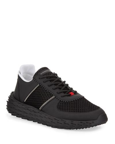 Men's Urchin Knit Sneakers w/ Zip Detail