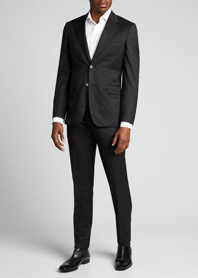 Men's Solid Classic-Fit Two-Piece Suit
