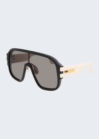 Men's Two-Tone Injection Shield Sunglasses