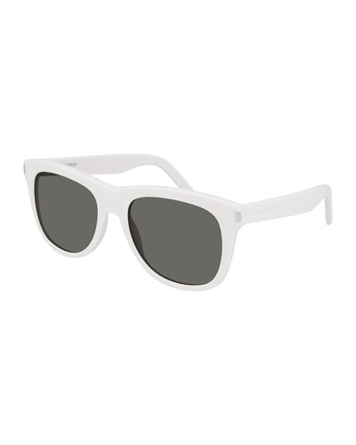 Unisex Over-004 Round Solid Acetate Sunglasses