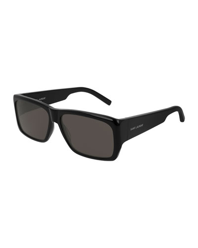 Unisex Lenny Solid Acetate Rectangle Sunglasses