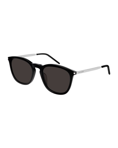 Men's Square Acetate/Metal Sunglasses