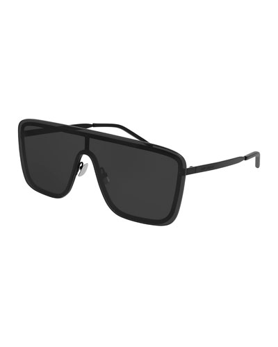 Unisex Mask Metal Shield Sunglasses