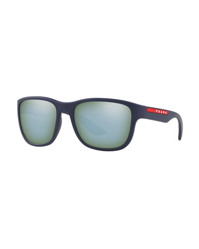 Men's Mirrored Propionate Sunglasses