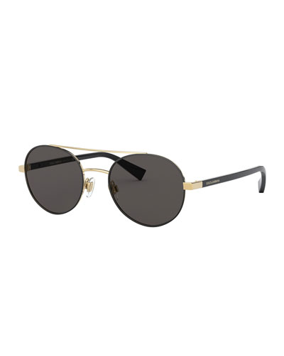 Men's Round Aviator Sunglasses