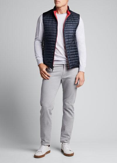 Men's Reversible Down Puffer Vest
