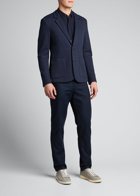 Image 1 of 1: Men's Double-Face Two-Button Jacket