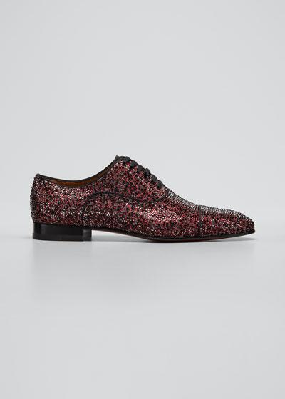 Men's Greggo Strass Suede Oxford Shoes