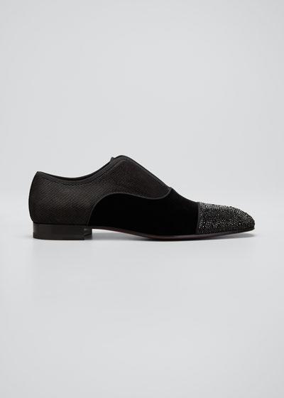 Men's Alpha Male Suede/Velvet Slip-On Dress Shoes