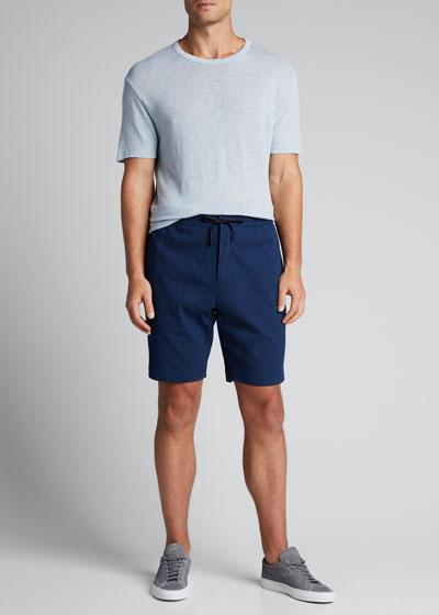 Men's Seersucker Drawstring Shorts