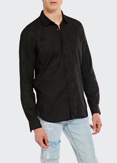 Men's Tonal Paisley Jacquard Sport Shirt