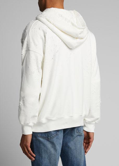Men's Shotgun Distressed Oversized Hoodie Sweatshirt