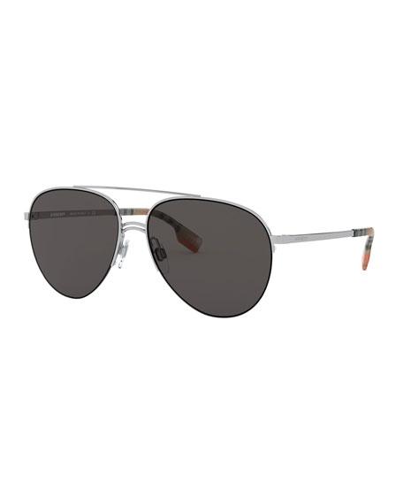 Men's Steel Aviator Sunglasses