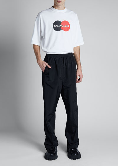 Men's Wide-Leg Track Pants