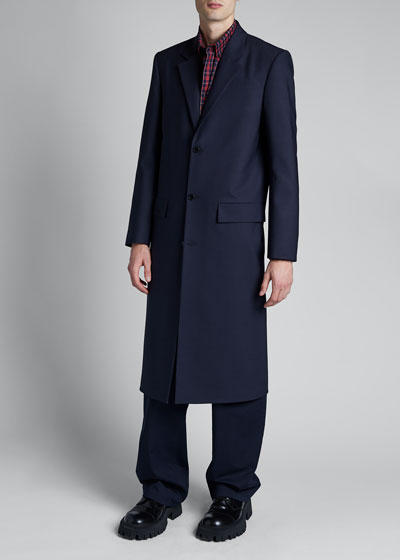 Men's Seamless Button-Front Coat