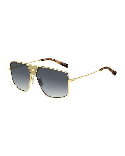 Men's Square Gradient Logo-Bridge Sunglasses
