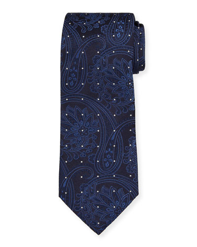 Men's Dotted Paisley Silk Tie