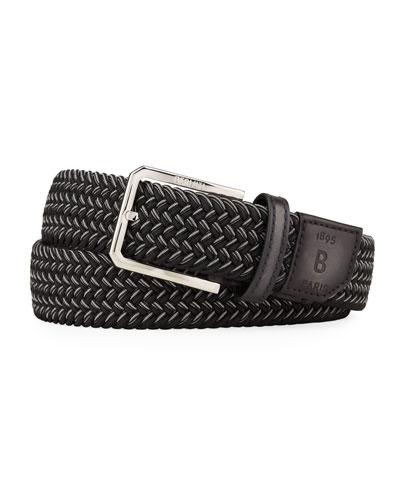 Men's Versatile Woven Stretch Belt