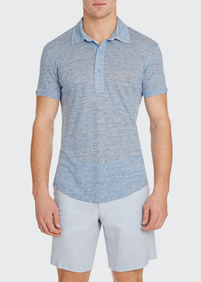 Men's Sebastian Linen Melange Polo Shirt