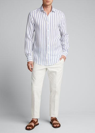 Men's Serengeti Striped Linen Sport Shirt