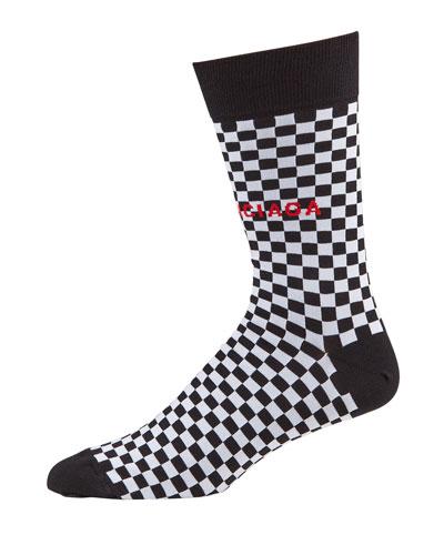 Men's Damier Checkered Socks