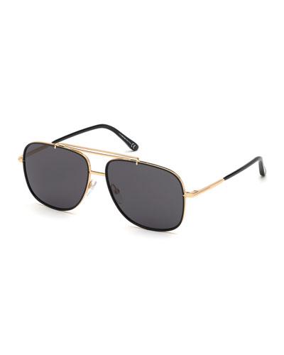 Men's Benton Yellow Golden Aviator Sunglasses