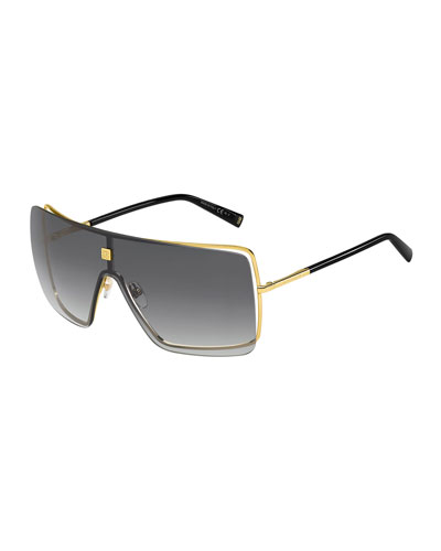 Men's Gradient Metal Shield Sunglasses
