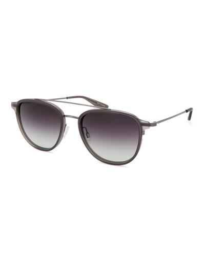 Men's Courtier 007 Titanium Brow-Bar Sunglasses