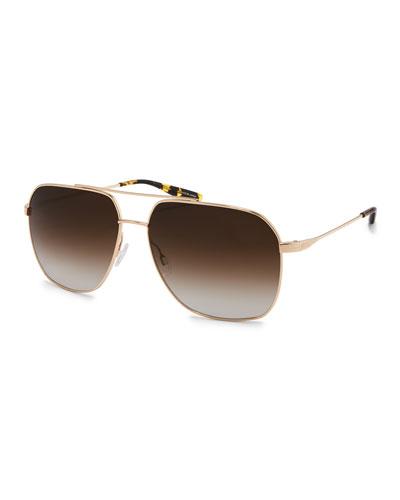 Men's Aeronaut Metal Gradient Aviator Sunglasses