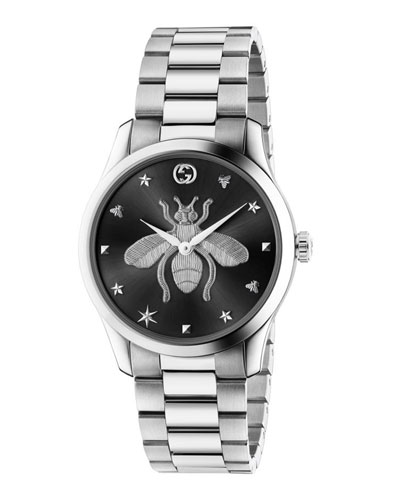 Men's 38mm G-Timeless Bee Watch with 3-Link Bracelet