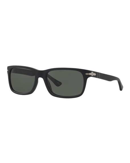 Image 1 of 1: Men's Polarized Square Acetate Sunglasses