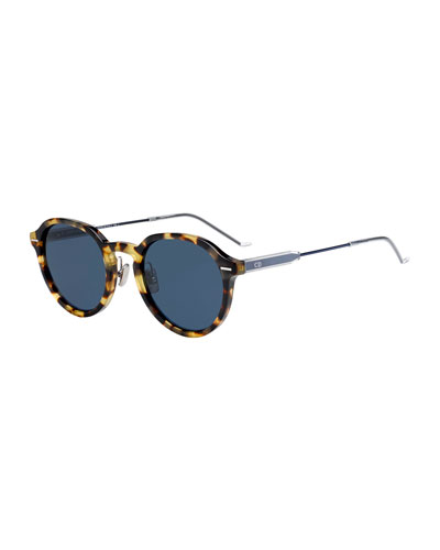 Men's Motion 2 Round Havana Sunglasses
